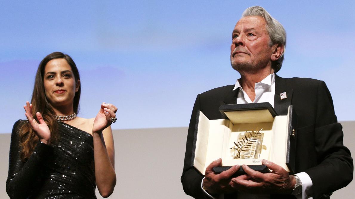 Alain Delon, Palma d'Oro alla Carriera tra lacrime e critiche