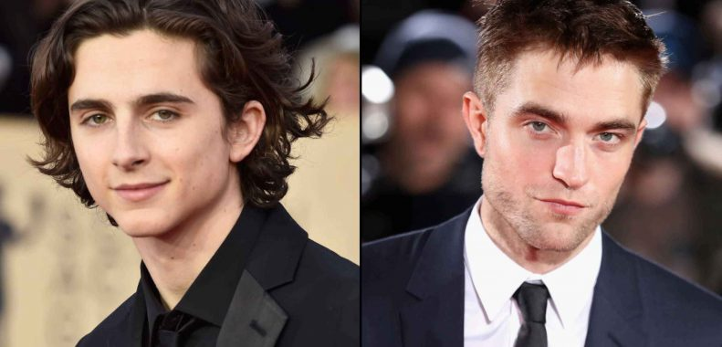 Timothée Chalamet e Robert Pattinson insieme sul set