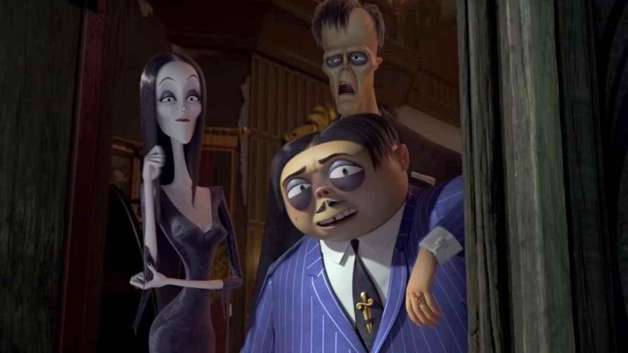 Il cartone animato della Famiglia Addams al cinema ad Halloween